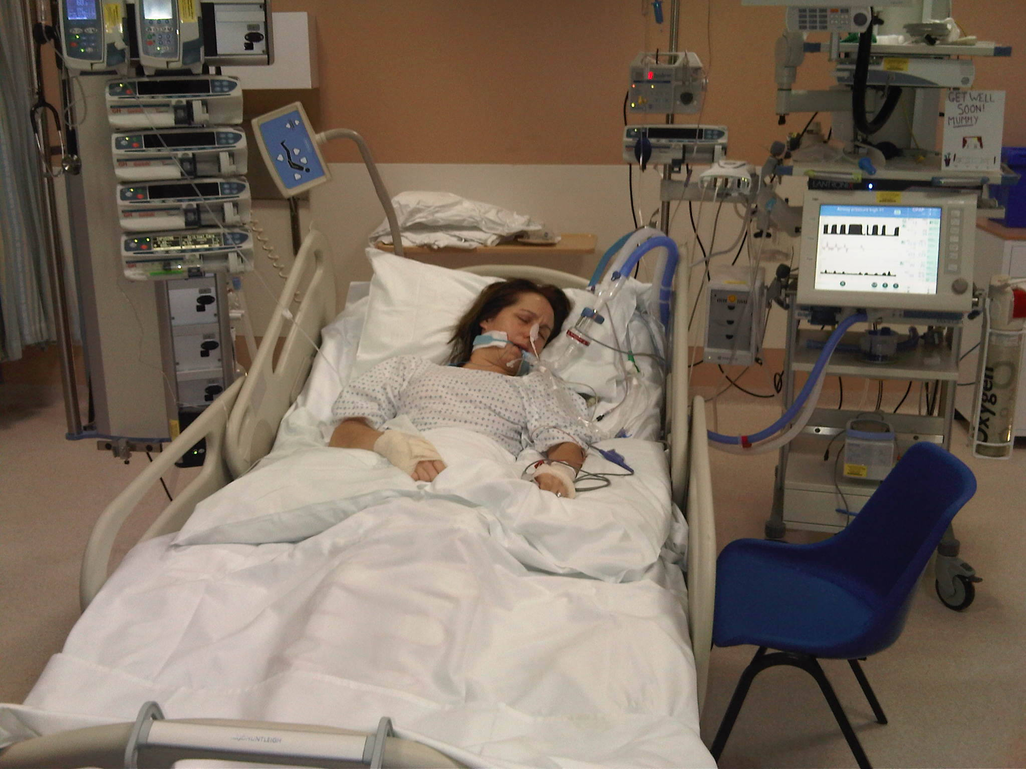 The gallery for --> Patient In Hospital Bed Icu